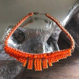Topshop coral necklace